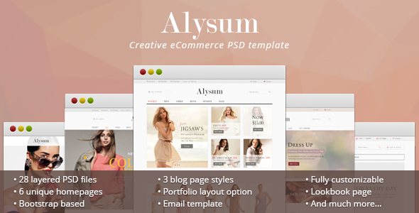 Alysum – eCommerce PSD Template