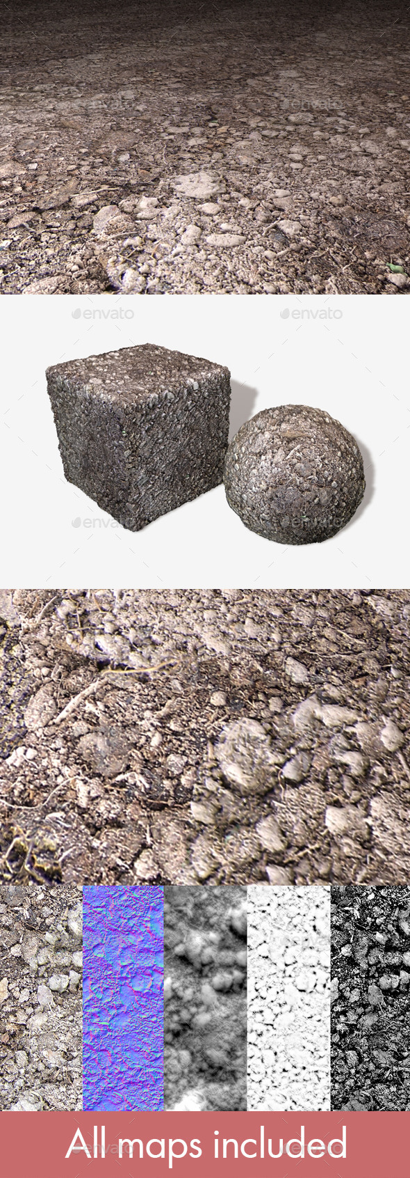 Soil Seamless Texture - 3DOcean Item for Sale