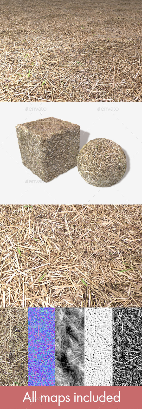 Straw Seamless Texture - 3DOcean Item for Sale