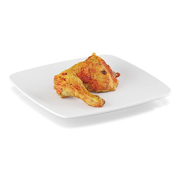 Pan-fried chicken leg - 3DOcean Item for Sale