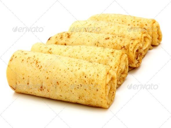 fried pancakes stuffed - Stock Photo - Images
