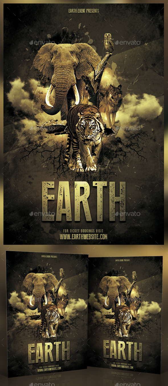 Earth Photoshop Flyer - Events Flyers