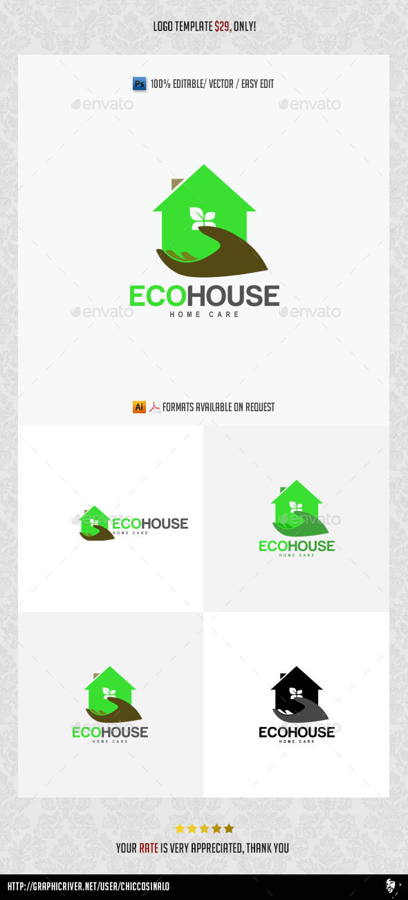 Eco House Logo Template - Abstract Logo Templates