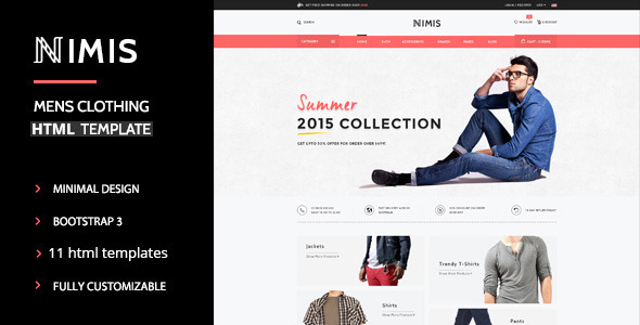Nimis – eCommerce Shop HTML Template