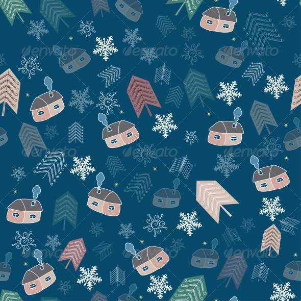 Winter Christmas Background - Backgrounds Decorative
