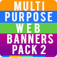 Multi purpose Banners Pack 2 - GraphicRiver Item for Sale