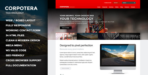 CORPOTERA – Responsive Multi-Purpose HTML Template