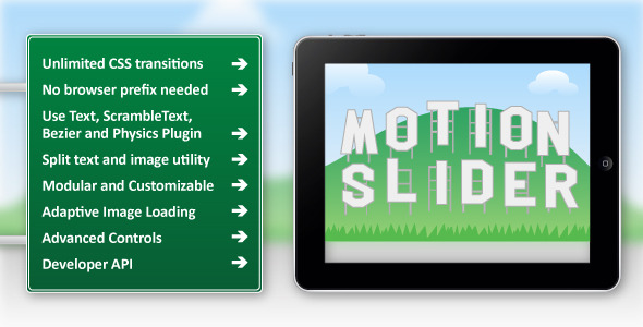 Motion Slider jQuery Plugin - CodeCanyon Item for Sale