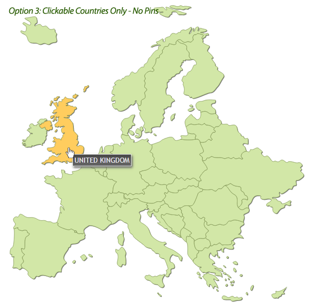 Interactive Map Of Europe By Art CodeCanyon - United kingdom clickable map