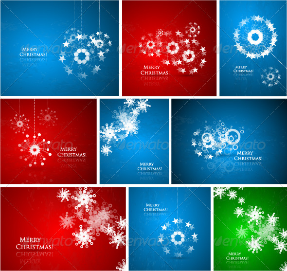 Abstract Christmas composition pack - Christmas Seasons/Holidays