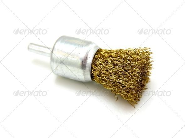Yellow brush of rotation - Stock Photo - Images