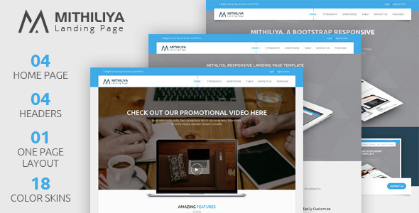 Image of Mithiliya: Multipurpose Landing Page Template