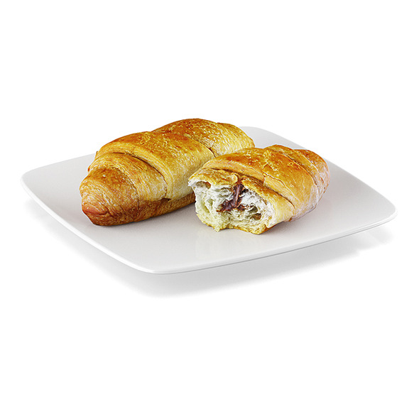 Croissant with filling - 3DOcean Item for Sale