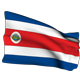 Costa Rica Flag Animated with Alpha - VideoHive Item for Sale