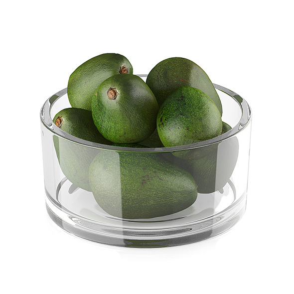 Bowl of avocado fruits - 3DOcean Item for Sale