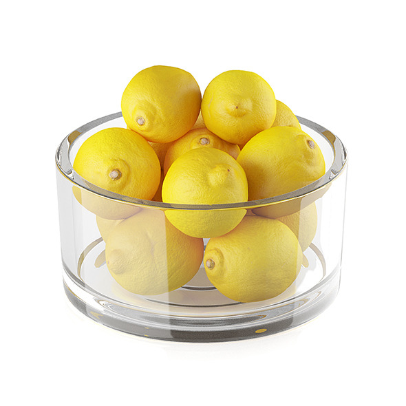 Bowl of lemon fruits - 3DOcean Item for Sale