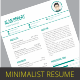 Minimalist Clean Resume - GraphicRiver Item for Sale