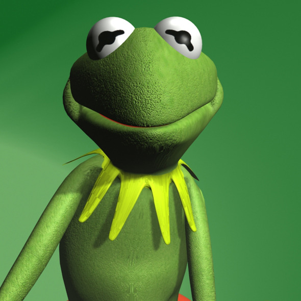 Kermit the frog RIGGED - 3DOcean Item for Sale