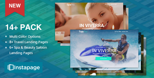 TravelPro -  Spa Pro | Beauty Salon | Yoga | Massage Instapage Landing Pages - Instapage Marketing
