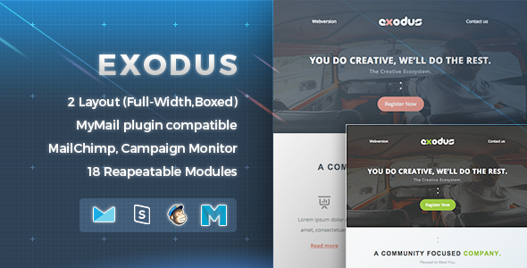 Exodus | Newsletter Email - Email Templates Marketing