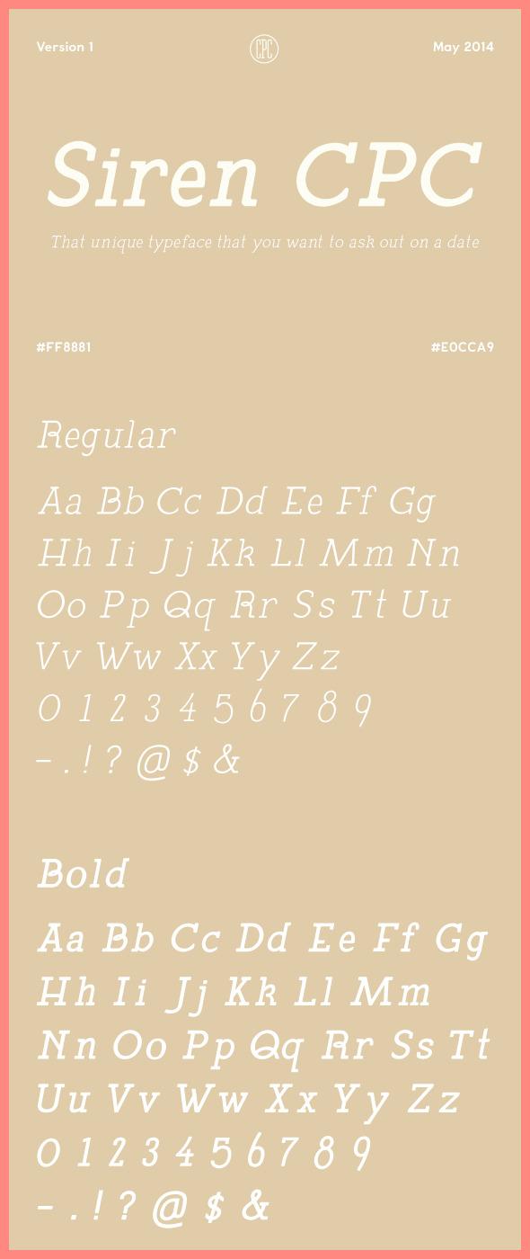 Siren CPC - Serif Fonts