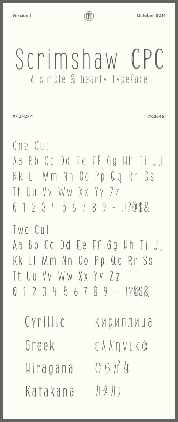 Scrimshaw CPC - Miscellaneous Script