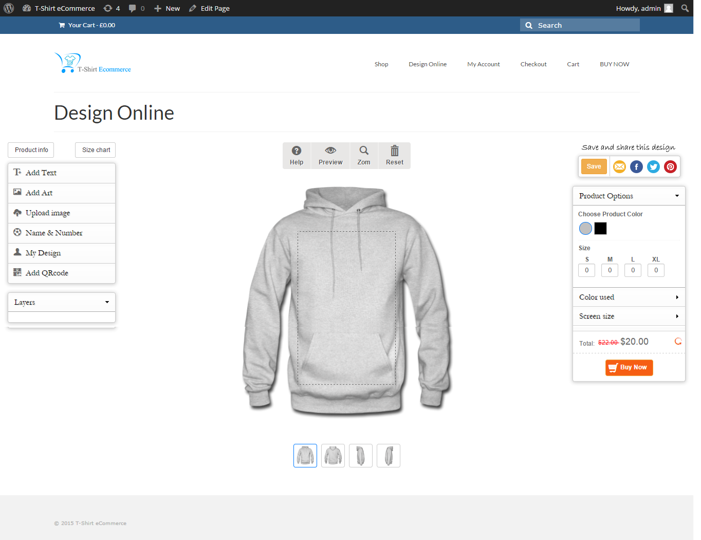 woocommerce custom product designer by dangcv codecanyon