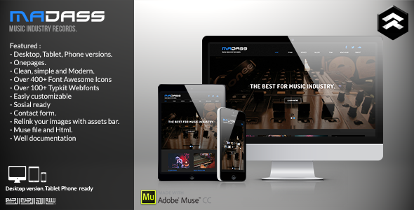 Madass - Music Industry Muse Template - Creative Muse Templates