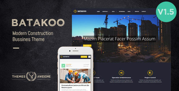 Batakoo – Modern Construction WP Theme