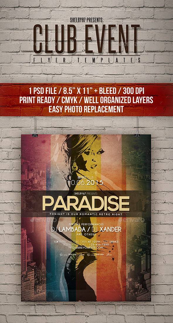 Club Event Flyer Templates - Events Flyers