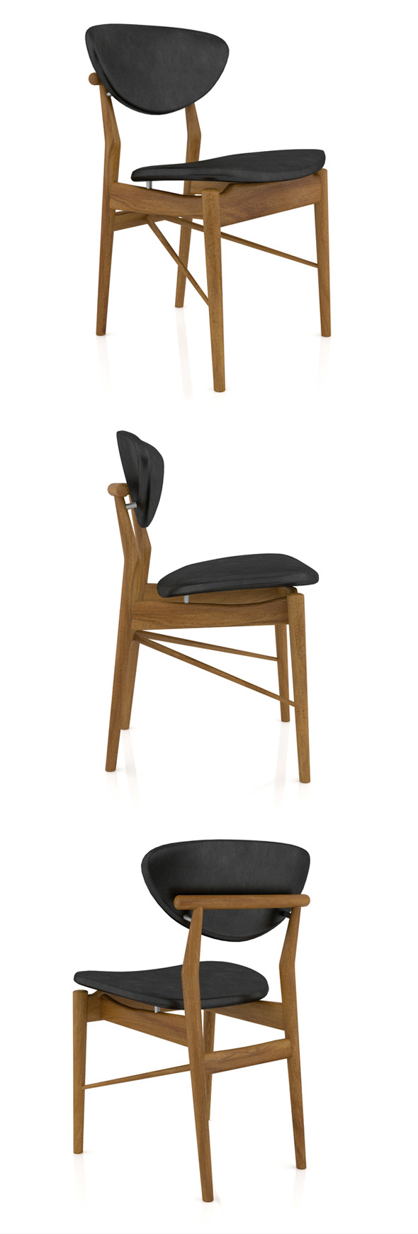 Finn Juhl 108 Chair - 3DOcean Item for Sale