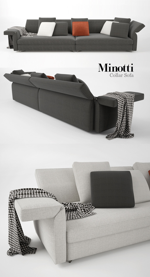 Minotti Collar Sofa 01 - 3DOcean Item for Sale