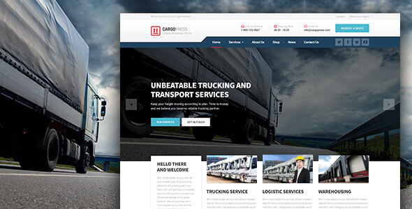CargoPress – Logistic, Warehouse & Transport WP