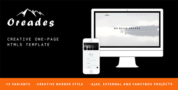 Oreades - Creative One-Page HTML5 Template - Creative Site Templates