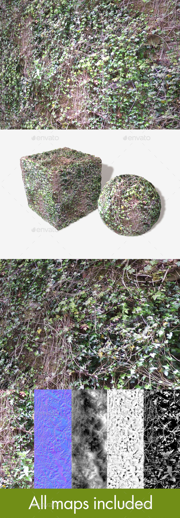 Overgrown Ivy Vines Seamless Texture - 3DOcean Item for Sale