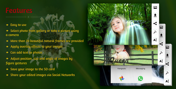 Edit Photo With Natural Frames - CodeCanyon Item for Sale