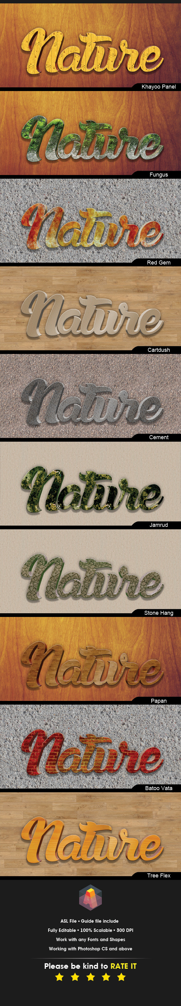 3D Text Effects Nature Styles - Text Effects Styles
