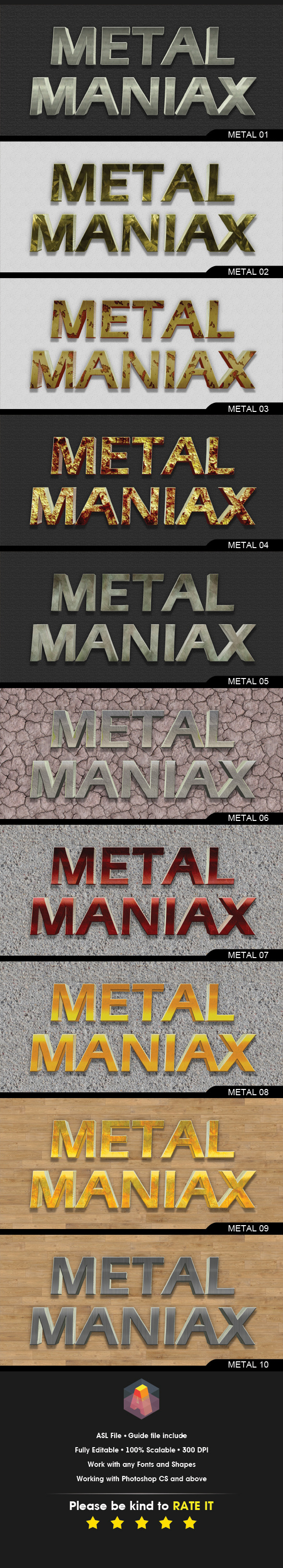 3D Metal Iron Text Styles - Text Effects Styles