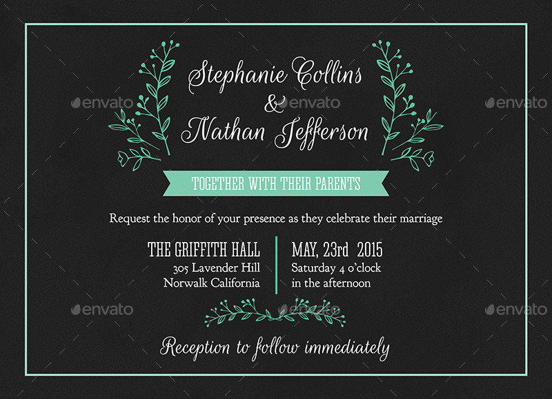 Modern wedding invitation psd template by carouselleriecreative 01invitation 1g stopboris Images