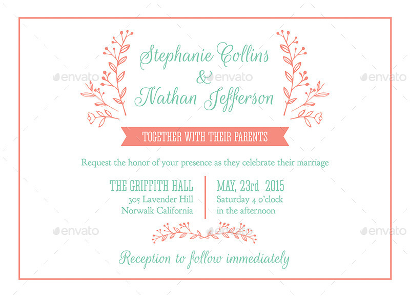 Modern wedding invitation psd template by carouselleriecreative 01invitation 1g 02rsvp 1g stopboris Image collections