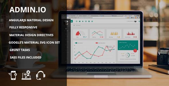 Admin.io – Responsive Material Design Admin