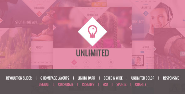 Unlimited – Responsive Multipurpose HTML5 Template