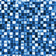 Blue Checkered Reflective Cube Background - GraphicRiver Item for Sale