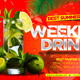 Weekend Drinks Flyer - GraphicRiver Item for Sale