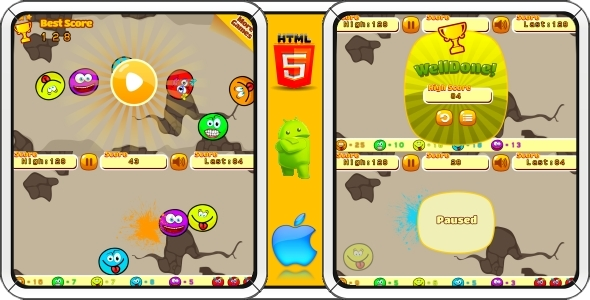 Warriors VS Evil Spirits - HTML5 Game 5 Levels + Mobile Version! (Construct 3 | Construct 2 | Capx) - 60