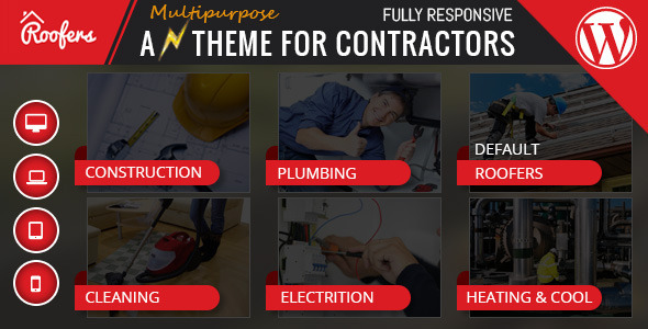 Roofers – WordPress Theme For Construction, Contractor Companies