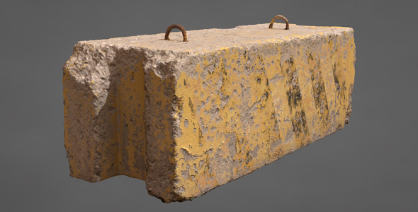 Concrete Block - 3DOcean Item for Sale