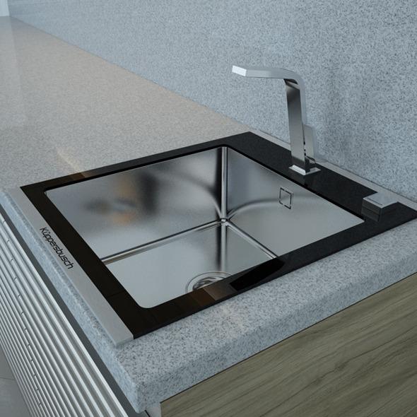 Kitchen Sink EAGK4500 Kitchen Faucet VA4600 Kupper - 3DOcean Item for Sale