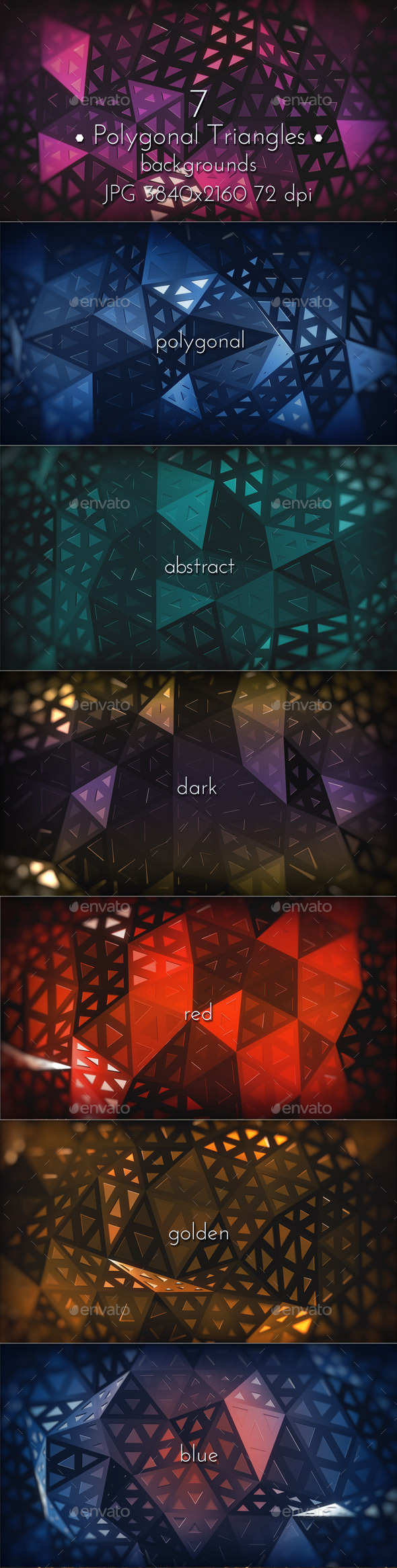 Polygonal Triangles Background