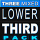 3 Mixed Lower Third Pack - VideoHive Item for Sale